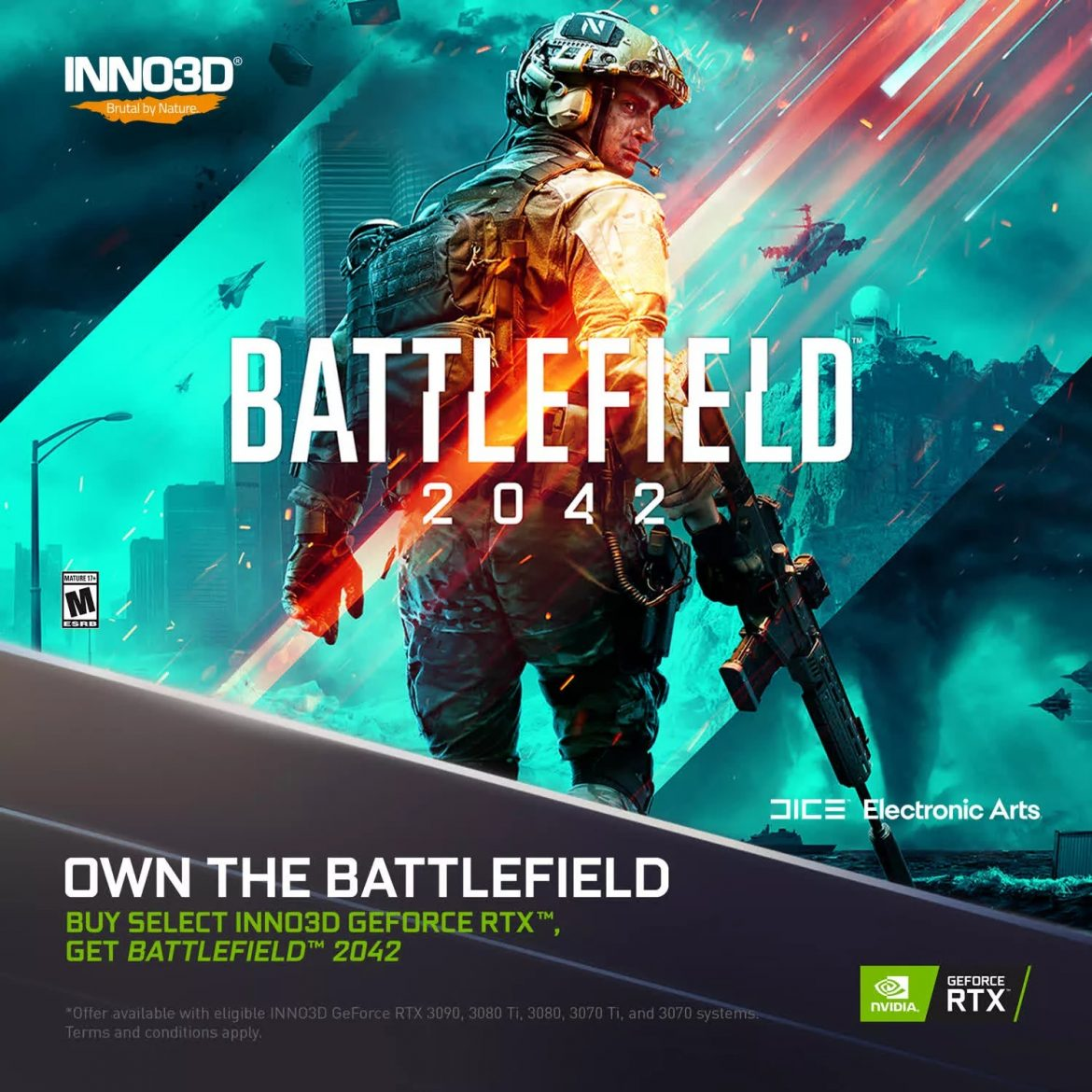 Nvidia is giving away free copies of Battlefield 2042 with its RTX 30 Series bundle